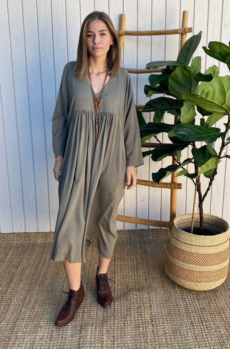 Getaway Dress in Olive