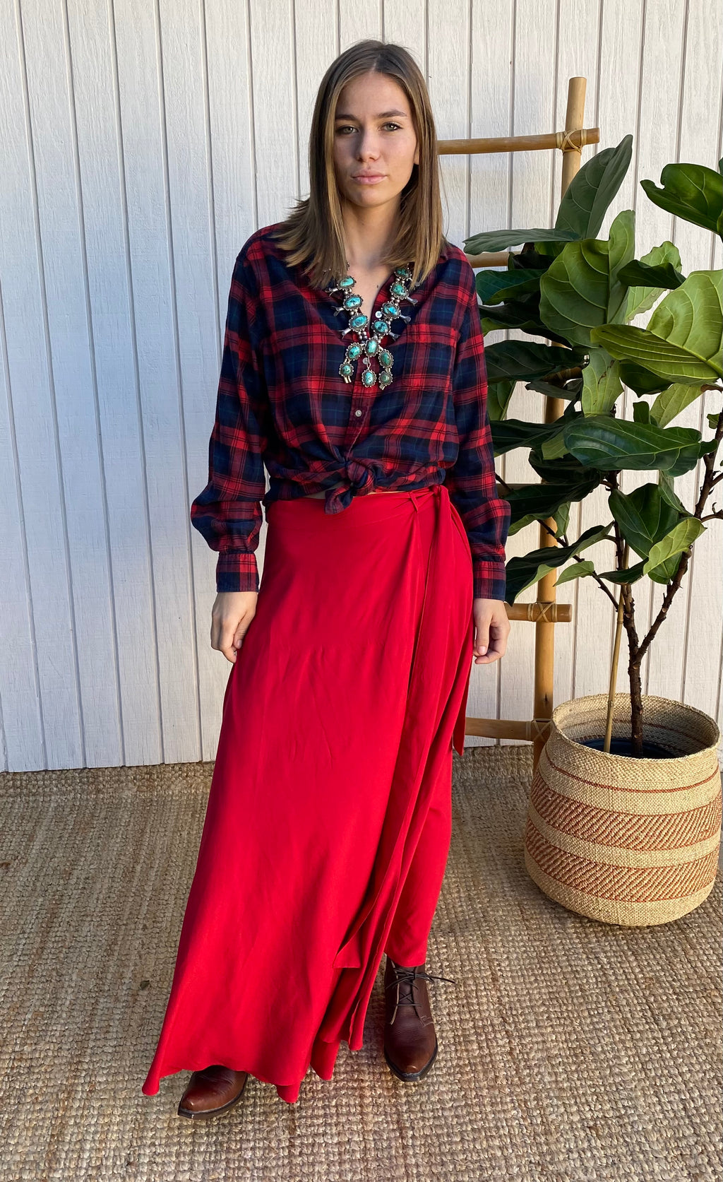 Wrap Skirt in Ruby