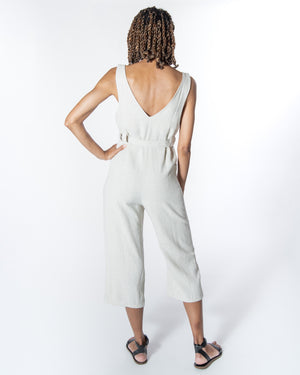Riviera Jumpsuit in Natural Linen