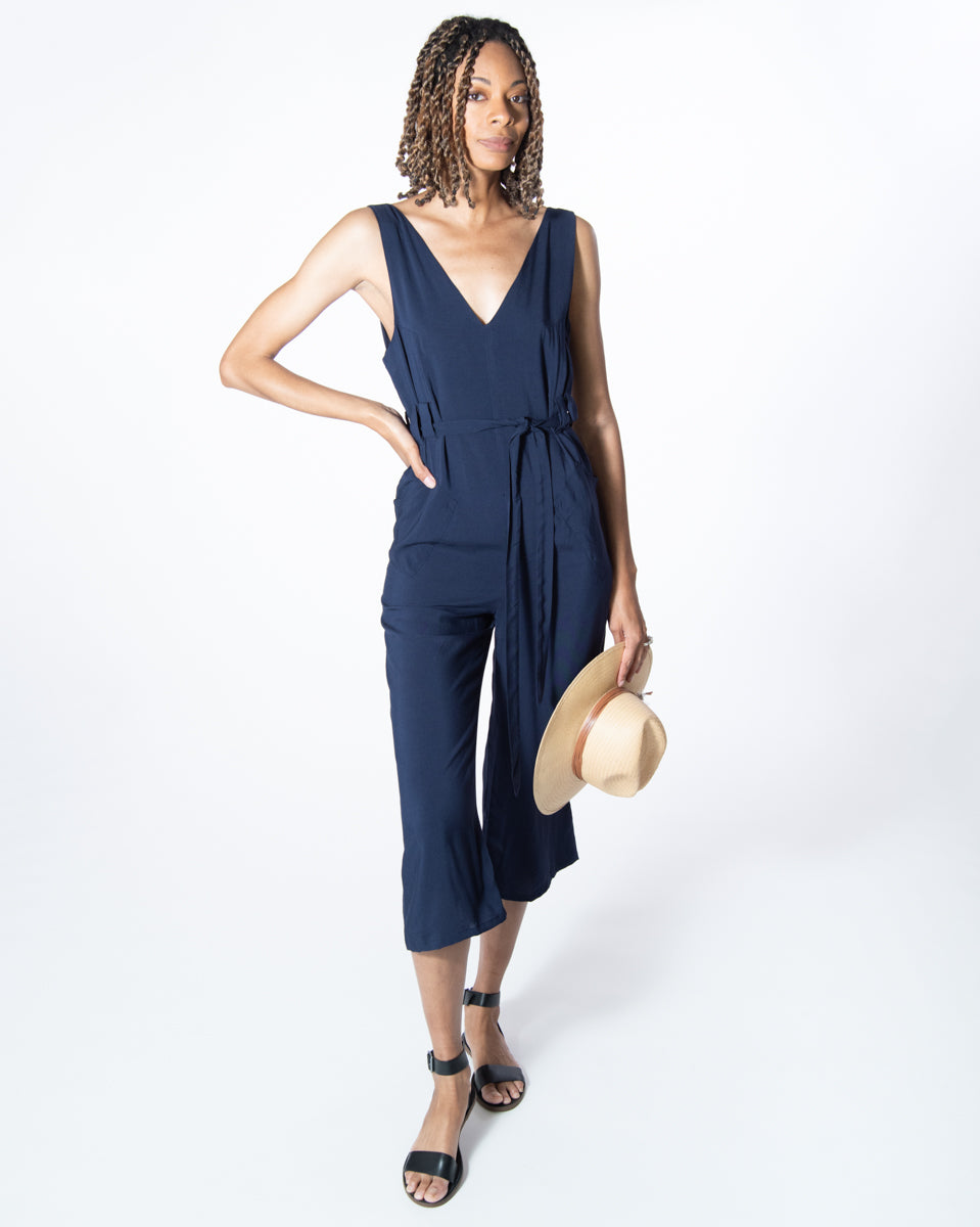 Riviera Jumpsuit in Navy