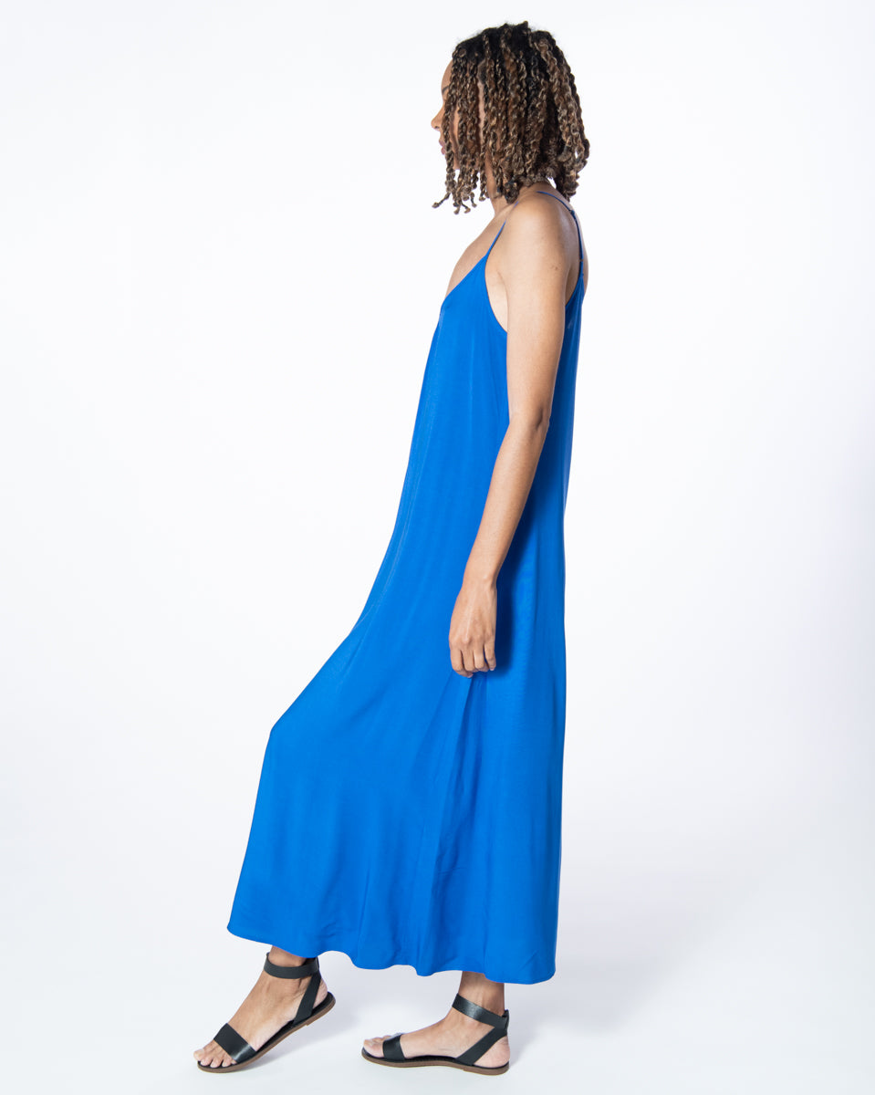 Long Perfect Dress in Majorelle Blue