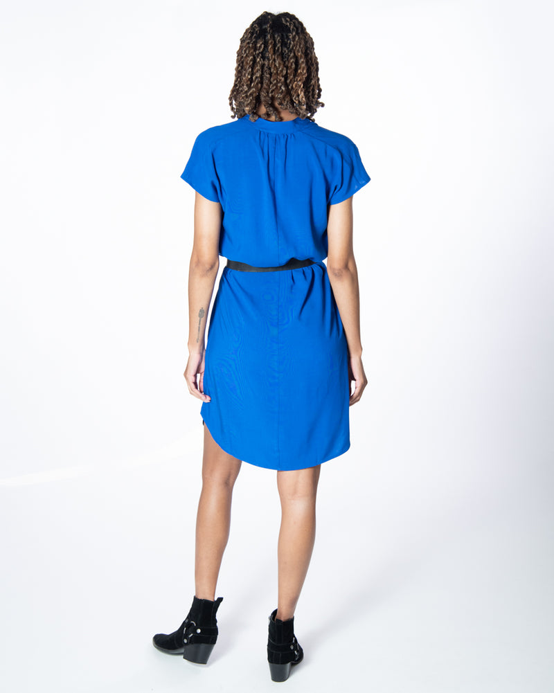 Travel Dress in Majorelle Blue