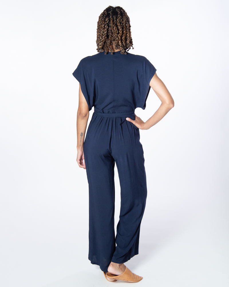Garbo Jumpsuit in Navy