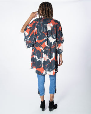 Moon Bliss Kimono in Black Beauty
