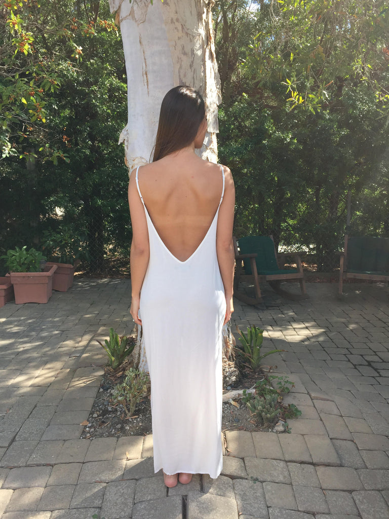 Wanderer Dress in Off White