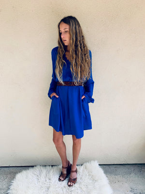 Nomad Mini Dress in Majorelle