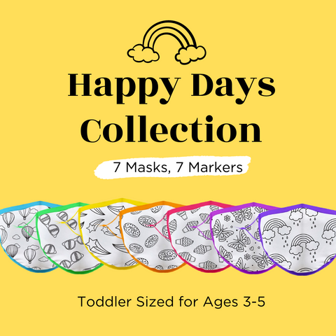 Toddler Sized (Ages 3-5) Crafty Mask™ | Happy Days Collection