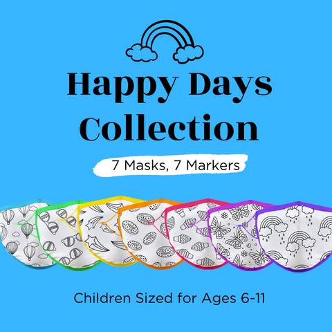 Child Sized (Ages 6-11) Crafty Mask™ | Happy Days Collection