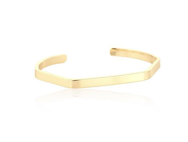 Stacking gold cuff