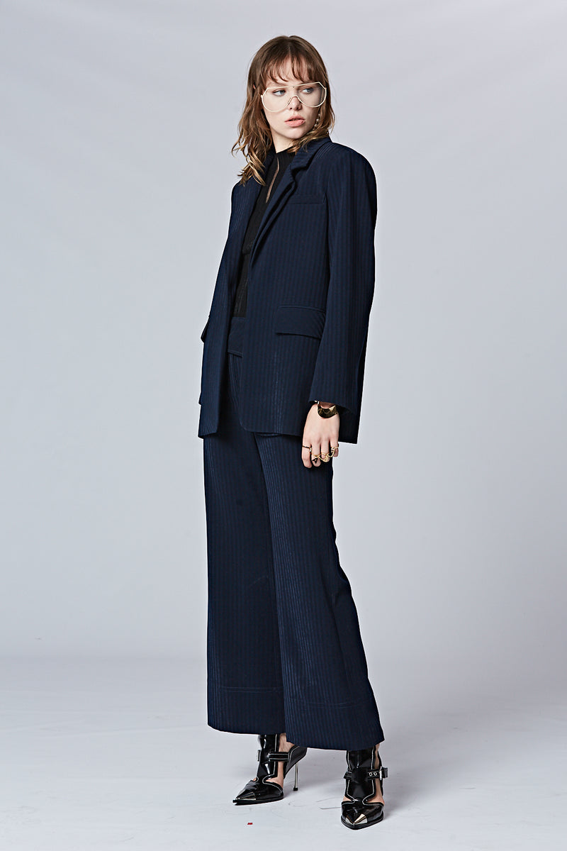 Asymmetric Wide Leg Pants