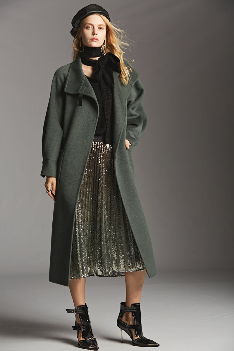 Sequin Pleated Skirt