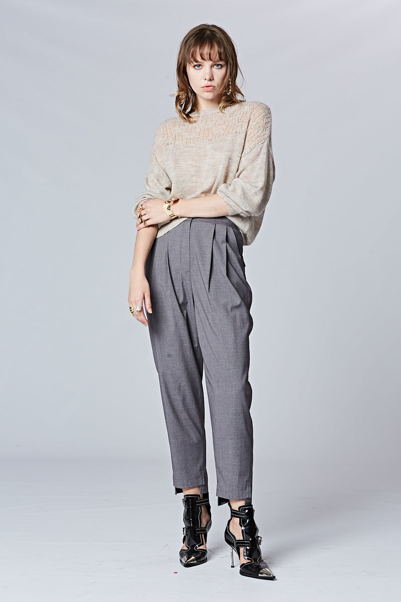 Pinstripe Tailored Pants