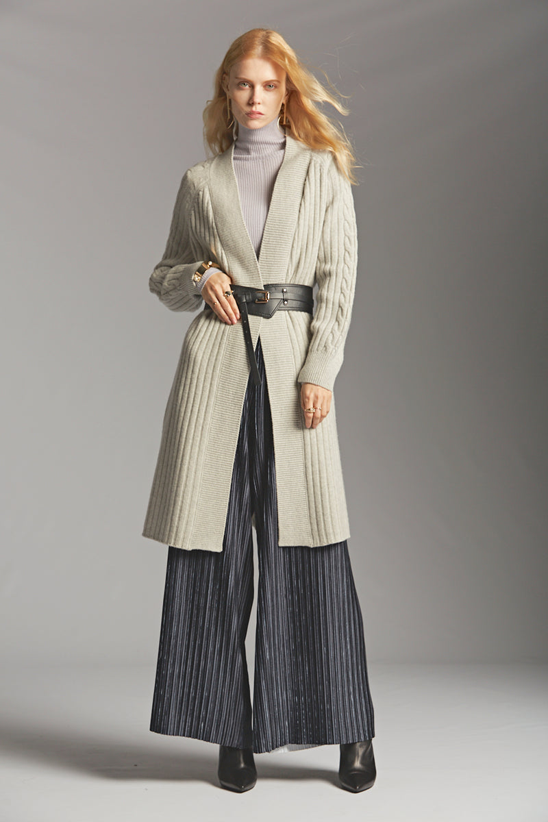 Pleated Knit Pants