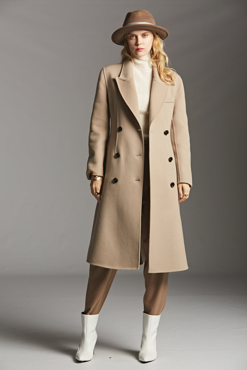 Timeless Double Breasted Wool Coat
