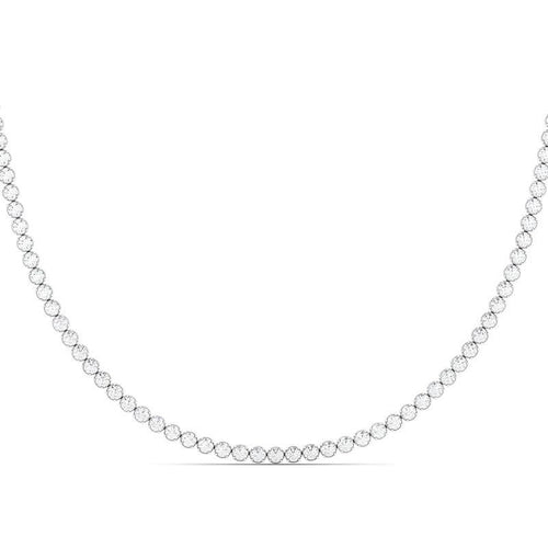 This elegant and radiant necklace demonstrates the natural beauty of the diamonds within it. It is your perfect outfit addition making you shine even brighter. Made of 14K gold allowing for your choice of rose gold, white gold, and yellow gold to fit all skin tones. Set with round cut diamond