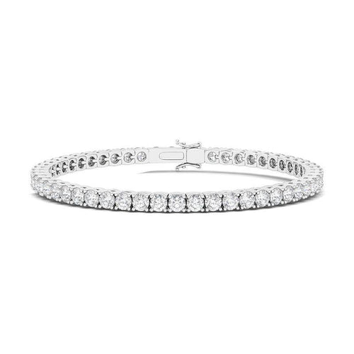 Round Tennis Bracelet 3.74 ct.tw. with round cut diamond (2.5mm) - adornet jewels
