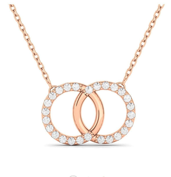 Diamond Intertwined Circle Necklace - adornet jewels