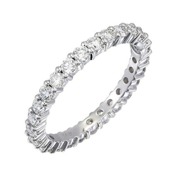 Diamond eternity ring. Blazing brilliance of Adornet diamonds. A perfect versatile addition to any ensemble. Crafted in 14k gold allows for your choice of rose gold, white gold, and yellow gold. The ring has a total diamond weight of 1.26 ct. Every single piece is selected by our expert team to ensure the color and clarity meet our standard (color: F+; clarity: SI+).