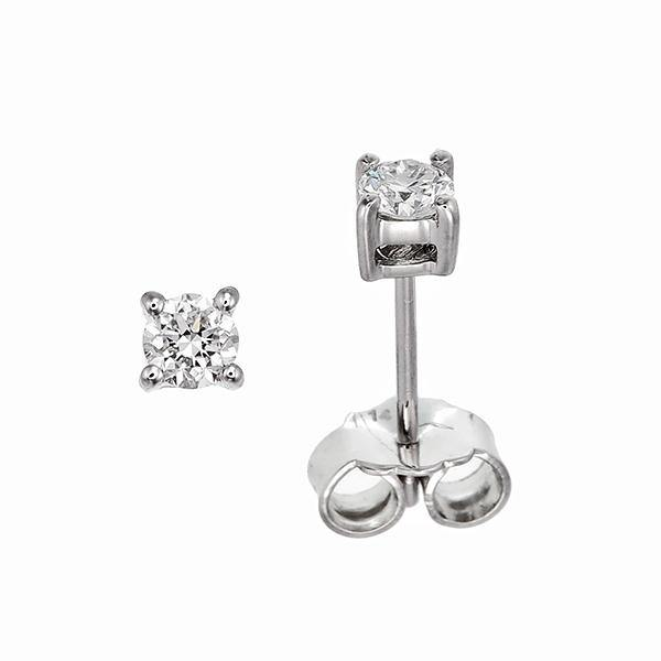 Simple Diamond Stud Earrings - adornet jewels