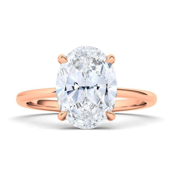 The beauty of this solitaire is in its simplicity. This oval diamond solitaire ring is graded VS+ for quality and F+ for color. With its sturdy design and clean lines, this timeless ring will be beautiful for a lifetime. Crafted with 0.35 ct.t.w. of high quality lab-grown diamonds.   Purchases come with complimentary elegant jewelry gift box packaging