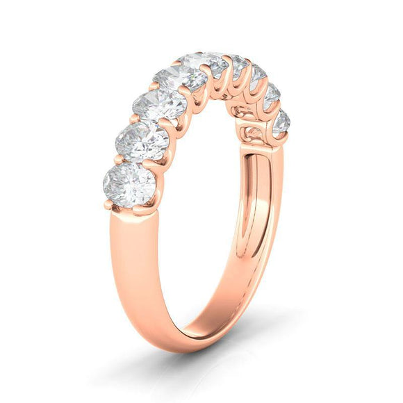 Half Oval Eternity Ring - adornet jewels