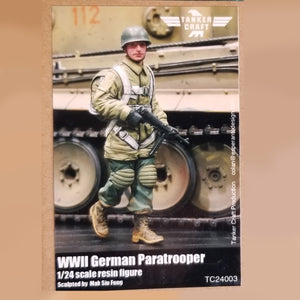 WWII German Paratrooper - 80mm 1/24 Scale Resin Figure