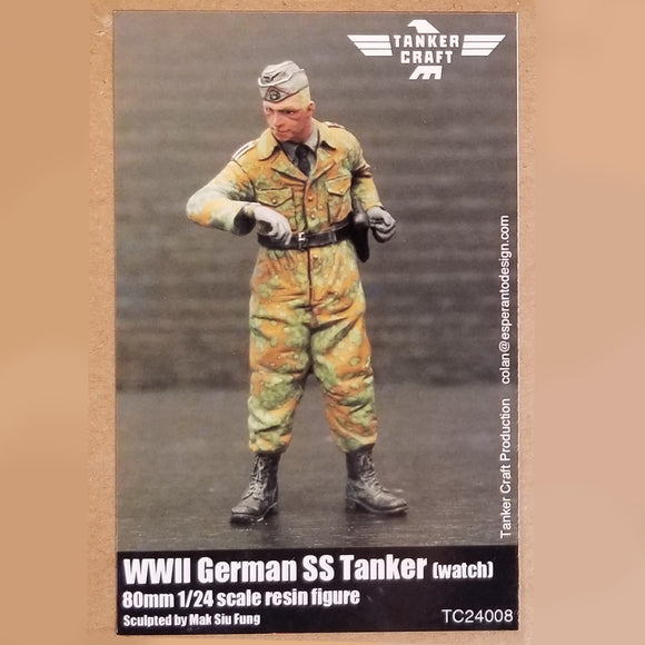 WWII German SS Tanker - 80mm 1/24 Scale Resin Figure