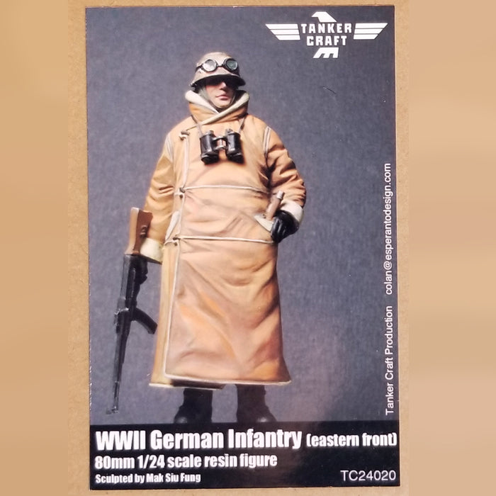 WWII German Infantry [eastern front] - 80mm 1/24 Scale Resin Figure