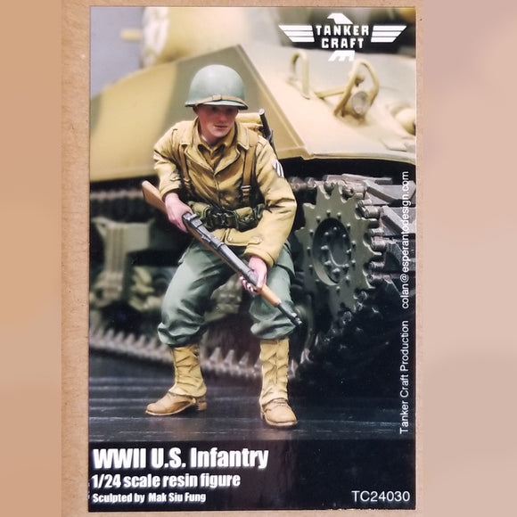 WWII U.S. Infantry - 80mm 1/24 Scale Resin Figure