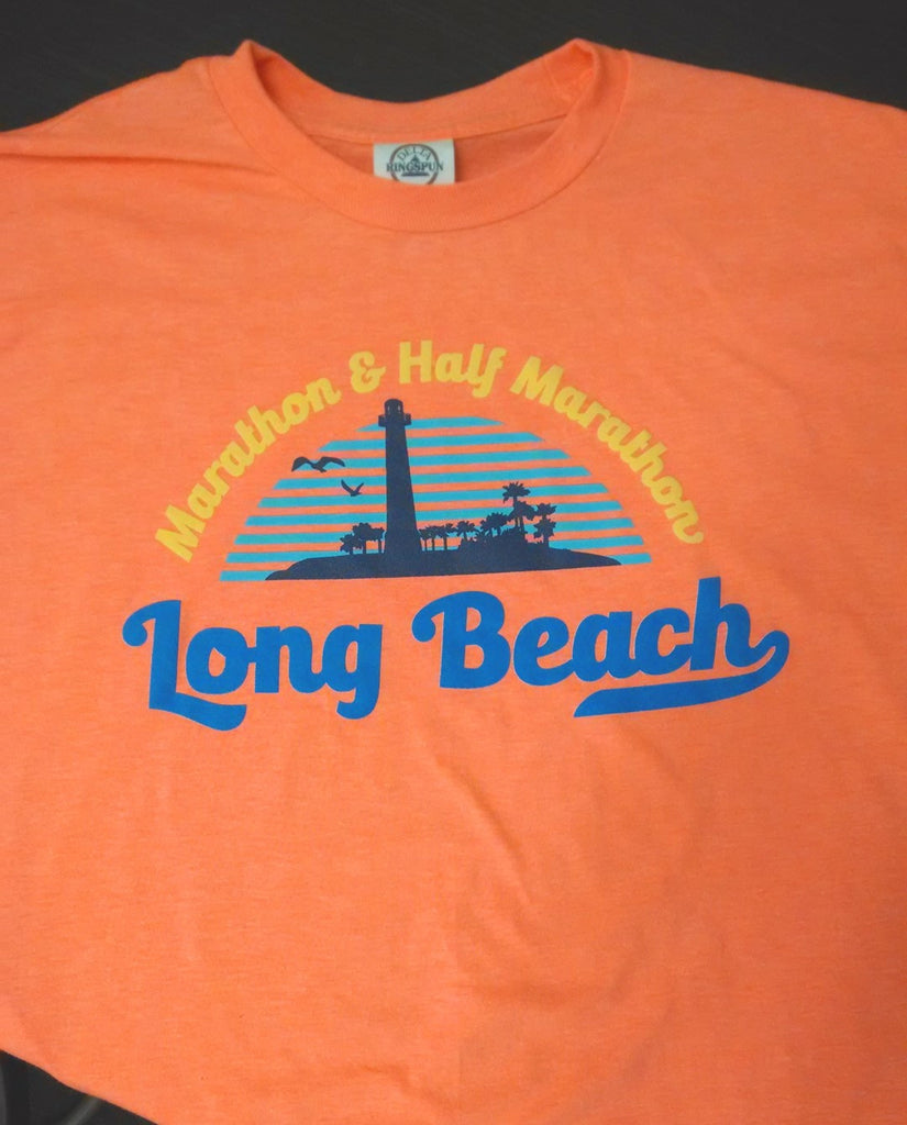Long Beach Coral Heather Athletic Fit T-Shirt - Unisex