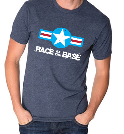 Race on the Base Indigo Blue W/Star and White Logo SS - Men's
