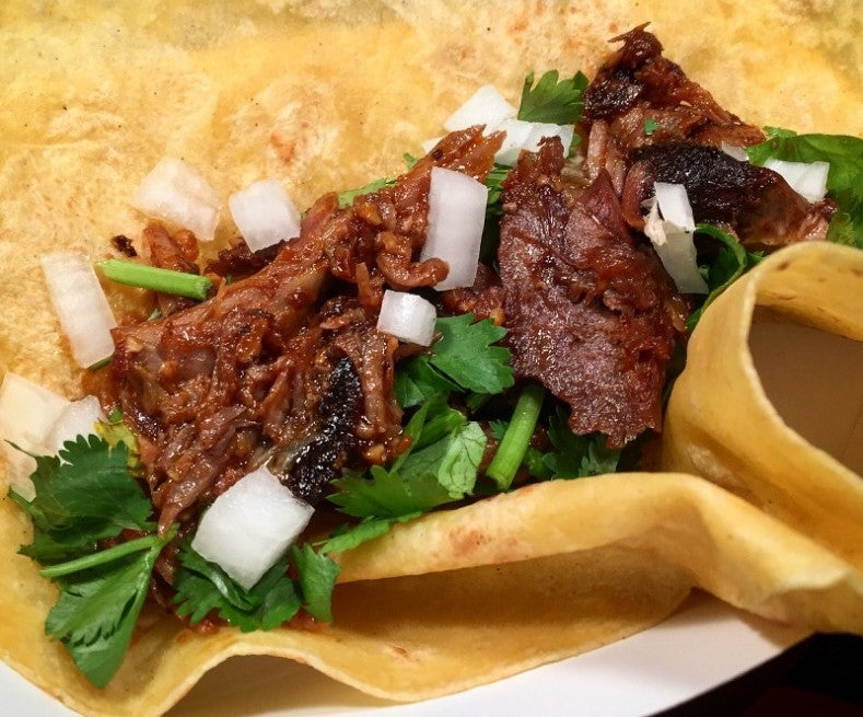 Braised Goat Shank Tacos