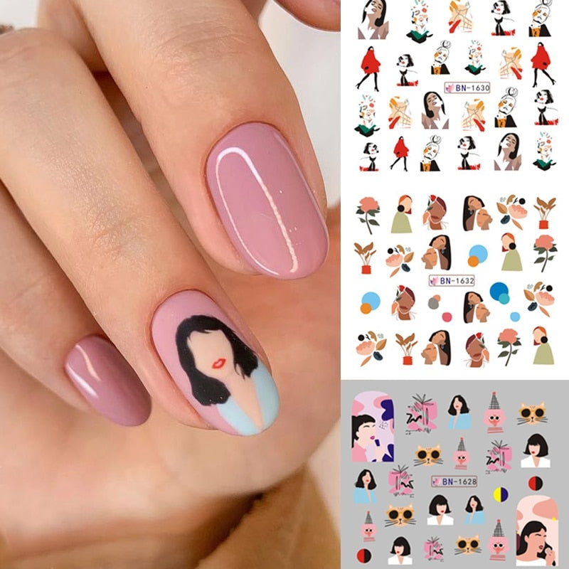 Coloful Abstract Image Nail Sticker