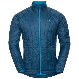odlo blue running jacket breathable