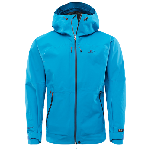 blue state of elevenate ski jacket with clo insulation