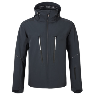 black breathable insulated jacket