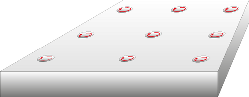 Diagram showing insulation with the Vivo holes concept with the holes trapping warm air when active.