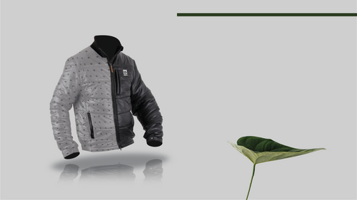 66 north jacket with vivo insulation panel for breathability and sustainability