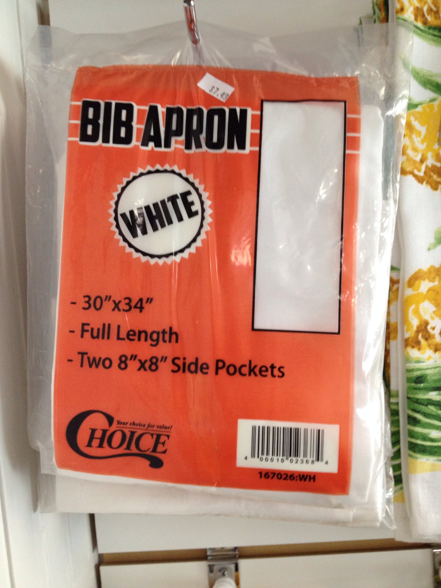 White Kitchen Apron