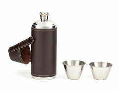 Flask and Shot Glasses