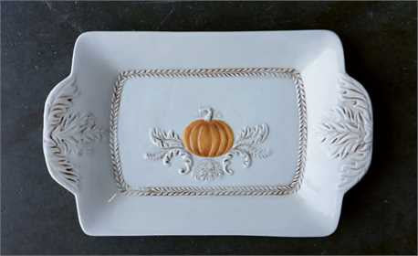 Pumpkin Ceramic Serving Pieces