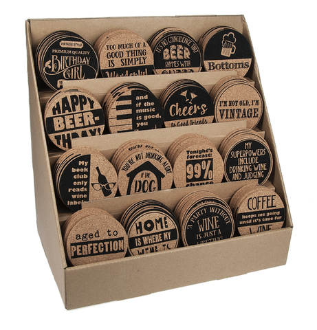 Cork Coasters, assorted prints