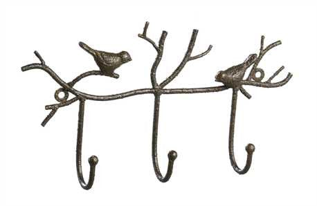 Birds and Branches 3 hook wall hanger