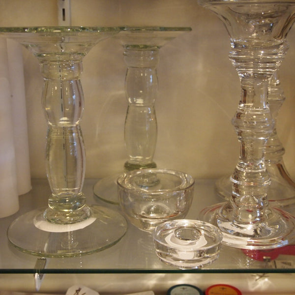 TAG glass candleholders