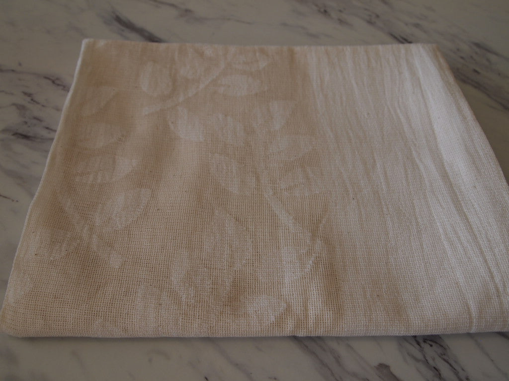 Cream Leaf Table Runner