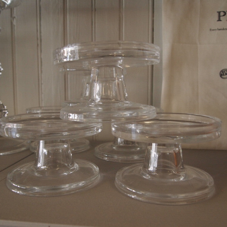 Bobbin glass candle holder