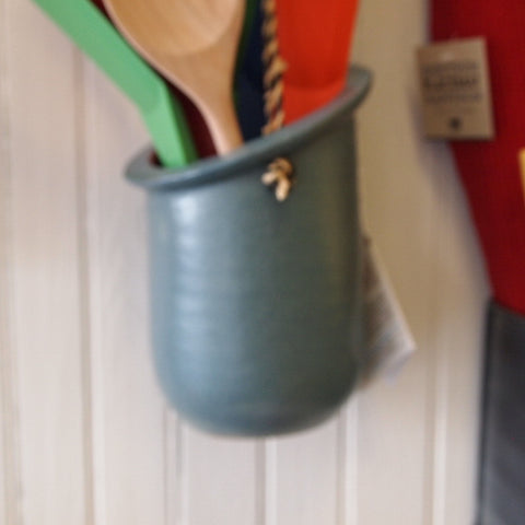 Blue Ceramic Hanging Planter