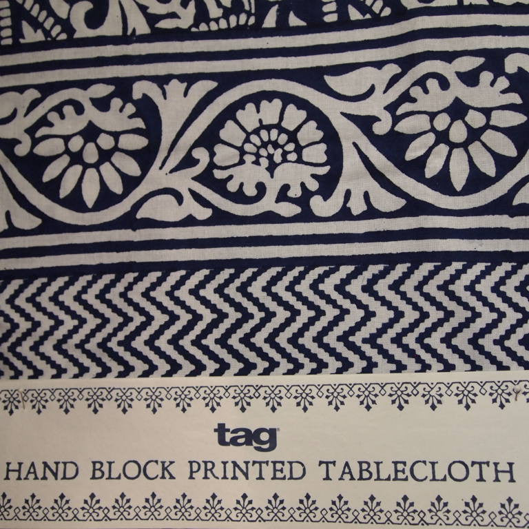 Indigo Blockprint tablecloth