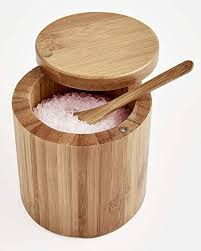 Bamboo Salt Box w/ Spoon