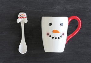Snowman Mug with Spoon
